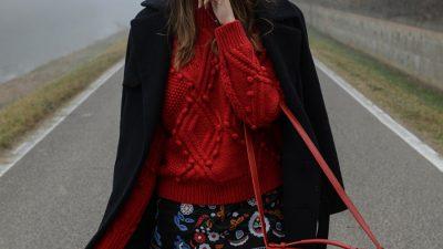 Il rosso colore moda