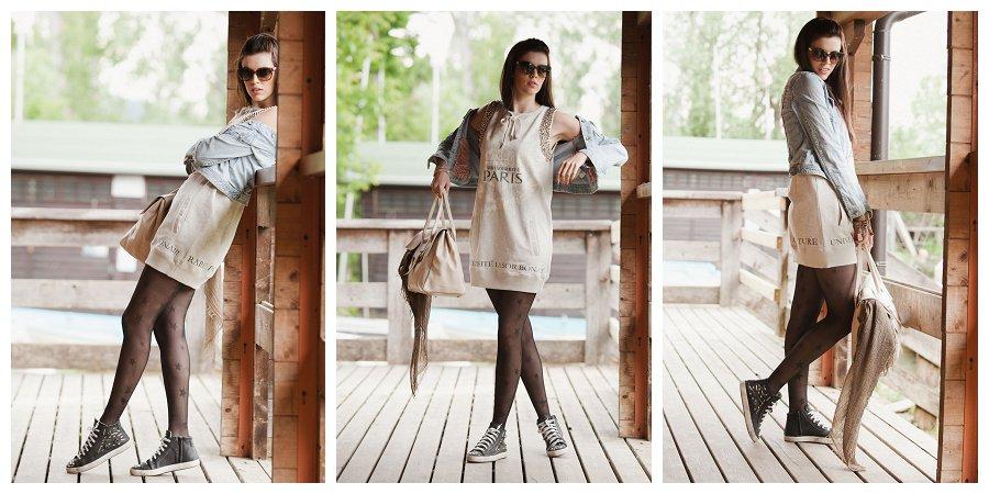 finest selection a7a35 f0b34 Vestito di felpa Nolita sempre alla moda abbinato con una ...
