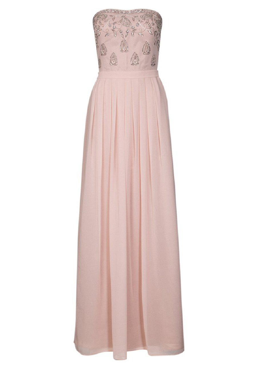 Vestito lungo rosa cipria zara