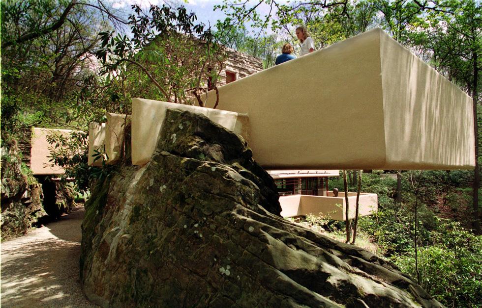 Casa sulla cascata di frank lloyd wright for Frank lloyd wright piani per la casa