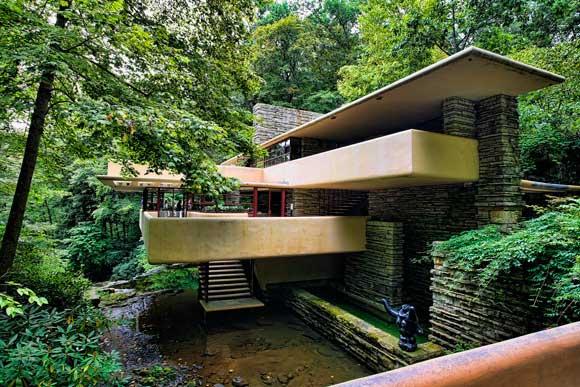 Casa sulla cascata di frank lloyd wright for Piani di casa sul fiume su palafitte
