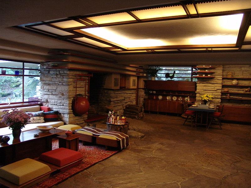 Casa sulla cascata di frank lloyd wright for Franco piani di lloyd wright