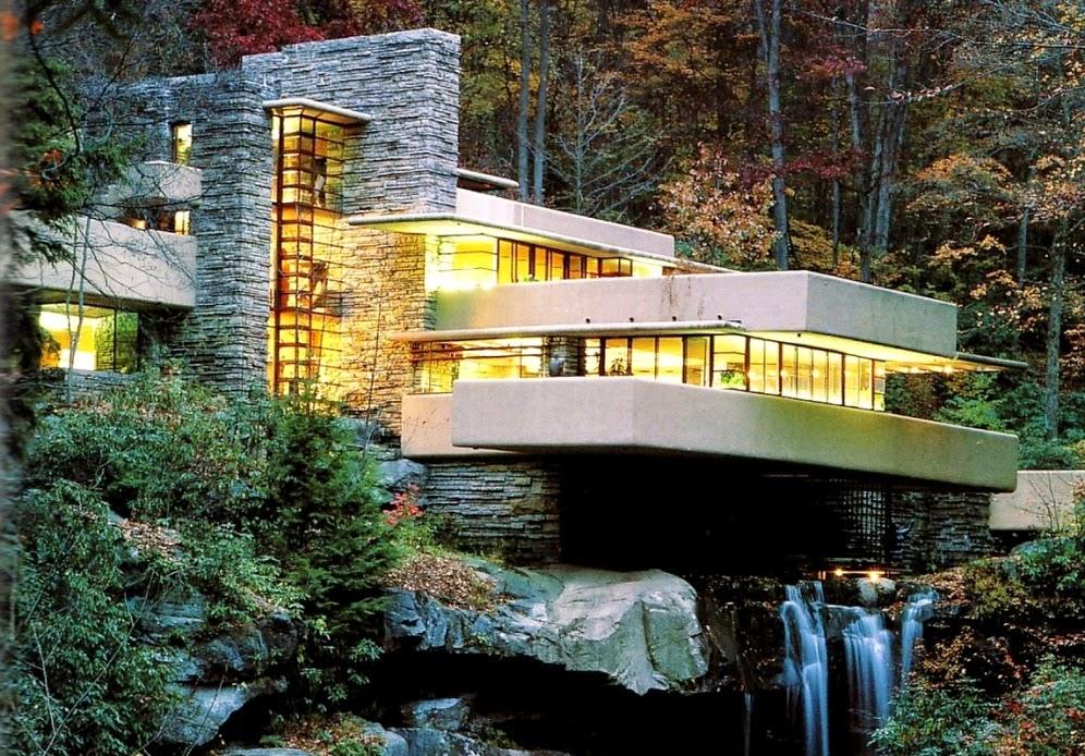 Casa sulla cascata di frank lloyd wright for Frank lloyd wright casa della prateria