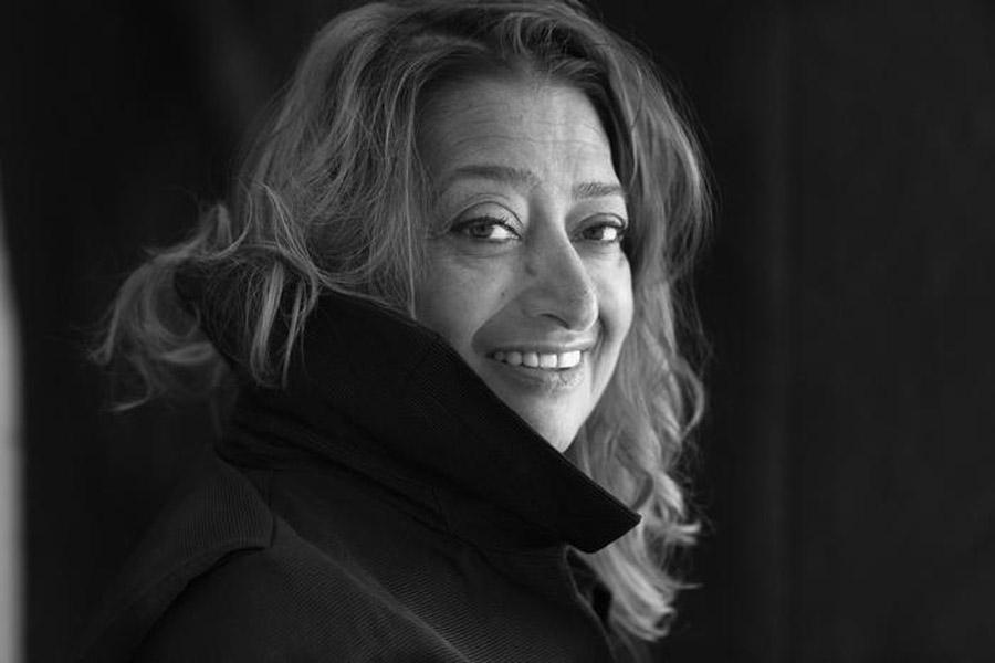 Nella foto distribuita dall'ufficio stampa l'8 aprile 2014 l'architetto Zaha Hadid. ANSA/UFFICIO STAMPA COSMIT +++NO SALES - EDITORIAL USE ONLY+++