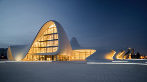 Heydar Aliyev Centre di Baku in Azerbaijan