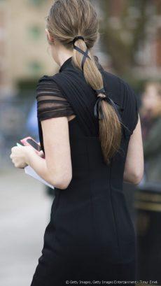 ponytail con nastro
